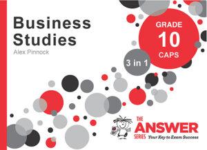Grade 10 Business Studies - Study Guide